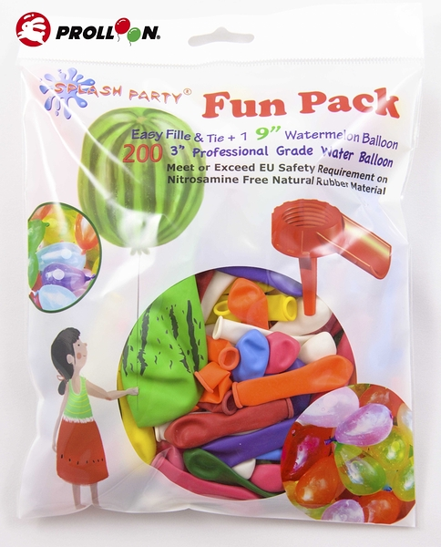【大倫氣球】3吋水球-水球大戰包 water balloon SPLASH PARTY Fun Pack 內含水球小幫手1個