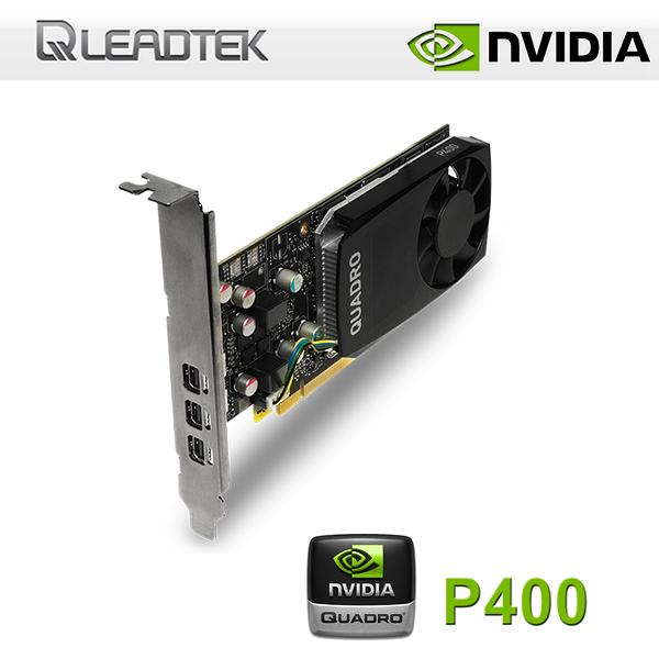 【免運費-加購】LEADTEK 麗臺 NVIDIA Quadro P400 2GB GDDR5 工作站繪圖卡 / MDP-DP / 三年保