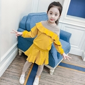 女童休閒套裝 新款秋裝韓版洋氣童裝中大童兒童女孩衛衣裙褲兩件套 KV2756 【野之旅】