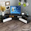轉角櫃簡約現代可伸縮電視櫃客廳電視櫃角櫃小戶型轉角電視櫃 PA12409『棉花糖伊人』