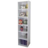 六層間隙書櫃 收納櫃 置物櫃(寬40x深30.3x高180/公分)防潮書櫃-素雅白色 MIT台灣製W406T-WH
