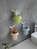 牙刷架衛生間置物架壁掛式化妝品梳子筒浴室洗漱臺免打孔牙膏牙刷收納架 雲朵走走