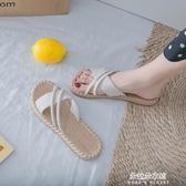 2020新款夏季涼拖鞋女外穿時尚韓版百搭網紅平底ins潮女式可濕水 朵拉朵YC