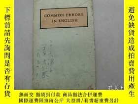 二手書博民逛書店原版英文書【COMMON罕見ERRORS IN ENGLISH】