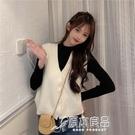 馬甲 9208#實拍 韓版短款百搭寬鬆無袖針織馬甲背心毛衣開衫外套馬夾 17店
