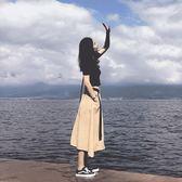 大碼微胖MM套裝女胖妹妹網紅半身裙兩件套顯瘦時髦心機遮肚子夏季