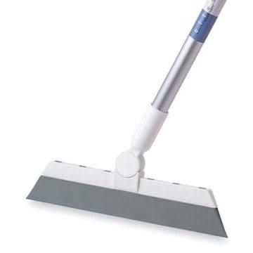 日本EF長柄無塵自在掃把 乾濕兩用 橡膠材質