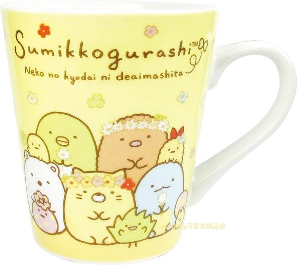 asdfkitty可愛家☆日本san-x角落生物花圈陶瓷馬克杯-日本正版商品