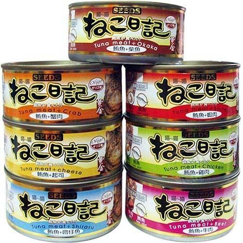 【培菓平價寵物網】聖萊西Seeds》黃金喵喵日記營養綜合餐罐貓罐-170g*24罐