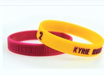 NBA 官方授權 克里夫蘭騎士 Kyrie Irving 恩文 運動矽膠手環 籃球運動手環 不掉漆 (1組兩條)