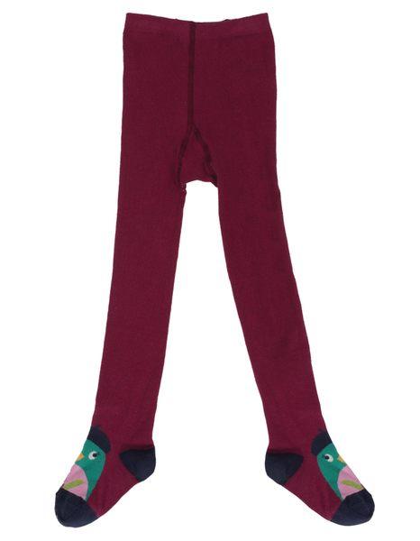 【英國Frugi】有機棉童趣褲襪 - 布豰鳥 TIA551BRB
