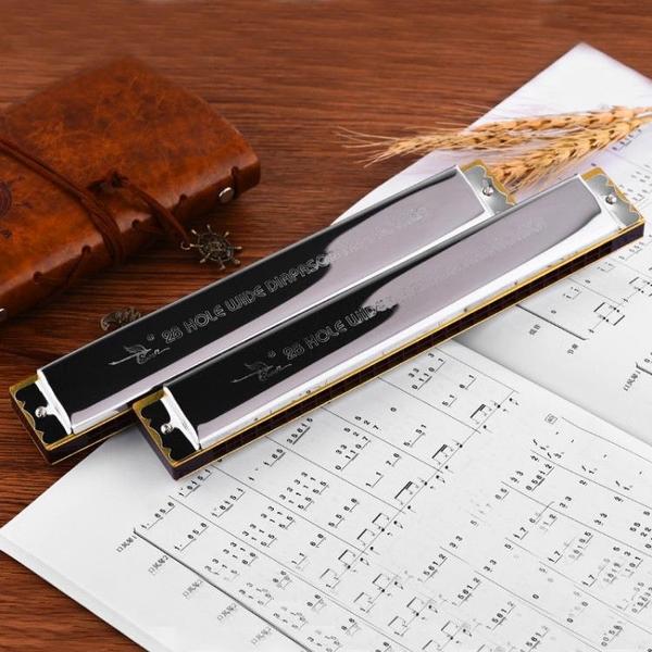 音簧口琴 成人28孔復音重音口琴準專業初學者C調演奏