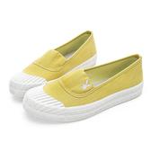PLAYBOY 簡約丹寧 帆布餅乾鞋-黃(Y5208黃)