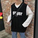 假兩件t恤寬鬆潮牌學生體恤港風潮流韓版長袖  傑克型男館