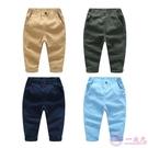 男童休閒純色長褲 2020春裝新款韓版童裝兒童棉質鬆緊腰寶寶褲子
