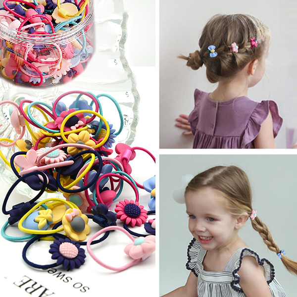 【團購】小孩髮束 彈力 頭飾 ★兒童造型髮圈40件盒裝組(3色選) NC17080191 ㊝加購網