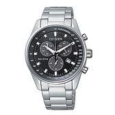 星辰CITIZEN 光動能銀鋼三眼計時腕錶AT2390-58E公司貨 全球1年保固
