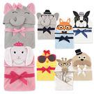 Luvable Friends 嬰兒動物造型連帽浴巾
