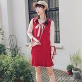 長袖洋裝-名媛小香風針織毛衣裙秋冬天內搭輕熟風女裝 夏沫之戀