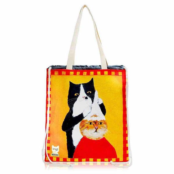 【COPLAY】pepe桑-洗頭貓|大束口後背包 (束口袋)