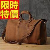 真皮行李袋-大容量可肩背設計方便男手提包1色59c30[巴黎精品]