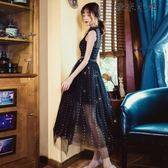 吊帶裙夏黑色小禮服