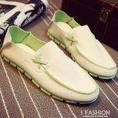 夏季拖鞋豆豆鞋社會小伙男鞋子個性百搭半拖韓版潮流一腳蹬懶人鞋-Ifashion