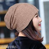 現貨頭巾帽 春夏蕾絲包頭帽子 薄款月子帽頭巾空調帽光頭化療帽女透氣堆堆帽 克萊爾10-16