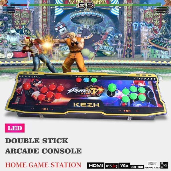 遊戲機三和搖桿家用街機拳皇格斗控台/雙人搖桿815合1金屬月光寶盒4S igo 城市玩家