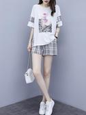 夏季時尚新款潮流遮肚減齡顯瘦短袖短褲套裝