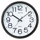 【奇奇文具】STAT W-9155 電鍍黑超靜音立體字時鐘