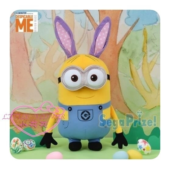 ♥小花花日本精品♥ 迪士尼DISNEY小小兵復活節限定款兔子耳朵玩偶娃娃絨毛娃娃50138401
