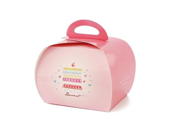 新款切片蛋糕盒 小慕斯盒 瑞士捲盒小提盒餅乾盒【C105】糖果盒 西點盒外帶盒包裝盒點心盒