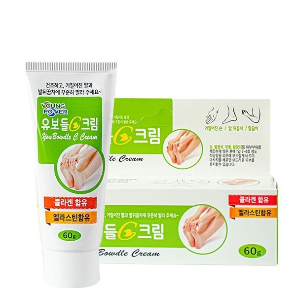 韓國 Young Power 足部膠原蛋白保濕霜 60g 護足霜【PQ 美妝】