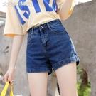 休閒短褲21夏季新款牛仔短褲女韓版寬鬆學生高腰闊腿顯瘦網紅超短褲女潮 快速出貨
