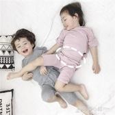 兒童睡衣莫代爾棉綢夏季薄款女家居服男童女童寶寶空調服套裝男 格蘭小舖
