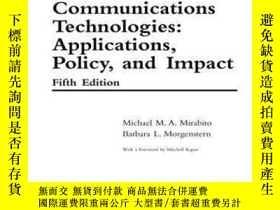 二手書博民逛書店The罕見New Communications Technologies: Applications Policy