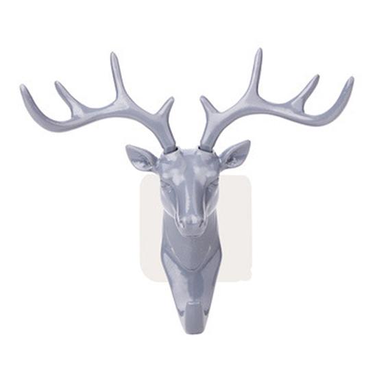 鹿象款 無痕掛鈎 鹿角 大象頭 掛衣勾 衣帽勾 美式 裝飾 鄉村雜貨 DIY 北歐風動物掛勾【G050】MY COLOR
