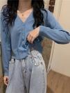 冰絲開衫 針織上衣外搭開衫女裝夏季溫柔風短款薄款防曬衫洋氣外套 韓流時裳