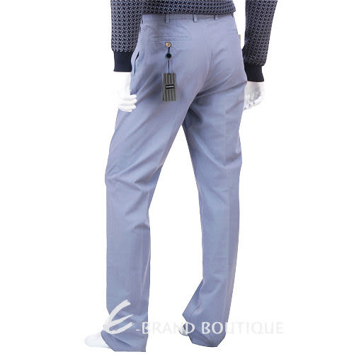 Ermenegildo Zegna 抓褶休閒長褲(紫色) 0621096-47