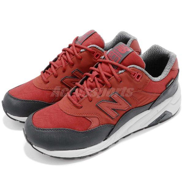 【五折特賣】New Balance 復古慢跑鞋 580 NB 紅 灰 Gore-Tex 防水材質 休閒鞋 男鞋【PUMP306】 MRT580XRD