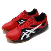 Asics 排羽球鞋 Court Break 紅 白 膠底 男鞋 運動鞋 基本款【PUMP306】 1071A003608