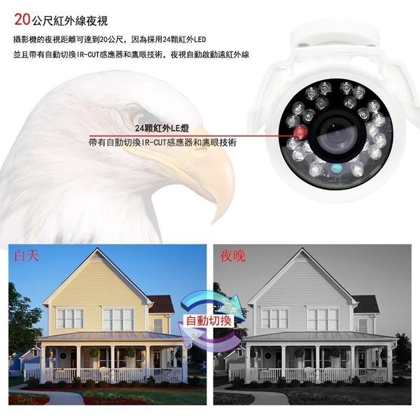 免運 Saqicam 4路 監視器 1080N DVR 監控錄影主機 1080P*2 室外防水 紅外燈 夜視 監控攝影機 AHD套餐