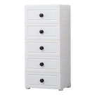 夾縫收納櫃 抽屜式兒童衣櫃多層 簡易塑料儲物櫃五斗櫃JY【快速出貨】