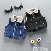 嬰兒背心 女寶寶加絨牛仔背心加厚嬰兒冬裝韓版女童小童冬季衣服1-2-3-4歲 童趣屋