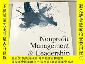 二手書博民逛書店Nonprofit罕見Management & Leadersh