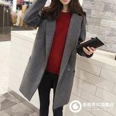 冬季毛呢外套女大衣中長款韓版新款呢子大衣