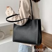 大容量單肩包女 高級感大包包新款潮純色單肩包大容量時尚網紅腋下購物托特包 快速出貨