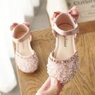 女童涼鞋 女童鞋夏季新款公主鞋女童涼鞋女寶寶包頭時尚兒童水晶鞋軟底-Ballet朵朵