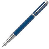 Waterman透視筆系寶藍銀夾鋼筆(筆身可免費刻字)